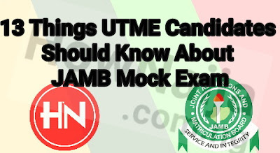 For candidates taking the scheduled JAMB mock examination here's 13 Things you Should Know About JAMB Mock Exam.