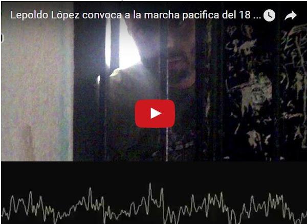 Se filtra audio de Leopoldo López mandando a salir a la gente este 18 de febrero