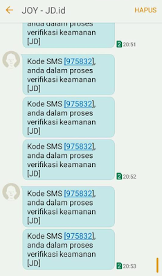 Bom SMS Berhasil