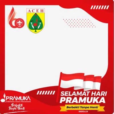 Kumpulan Twibbon Hari Pramuka 2021 Kwarda Aceh