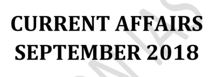 Vision IAS Monthly Current Affairs September 2018 (English