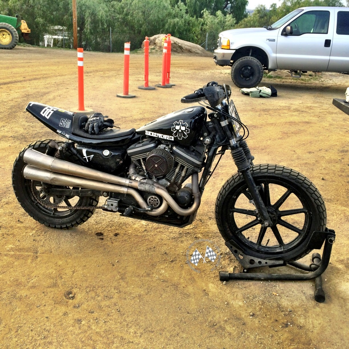 Chopper Daves Sportster Flat Tracker Blog Post RE-Post