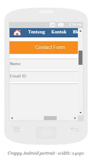 Membuat Kontak Form responsiv keren Blog