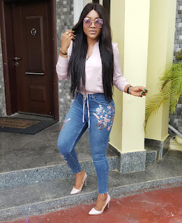 Mercy Aigbe shows evidence of domestic violence as husband promise no to do it again