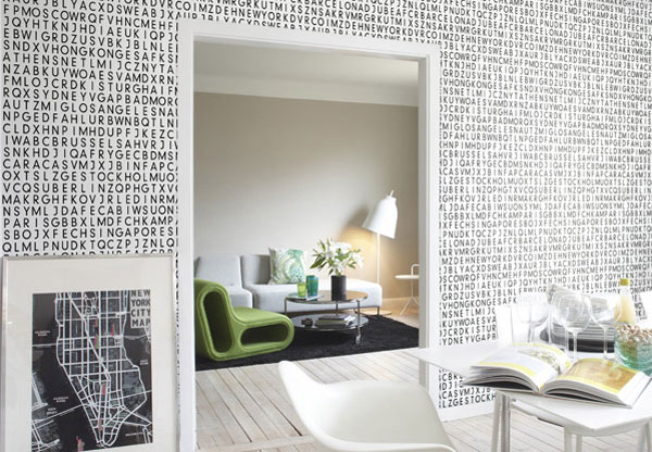 I Love This Picture Of Textural Wallpaper From Homeklon M Not Sure The Source But That It Creates Quite Literally A New Dimension On