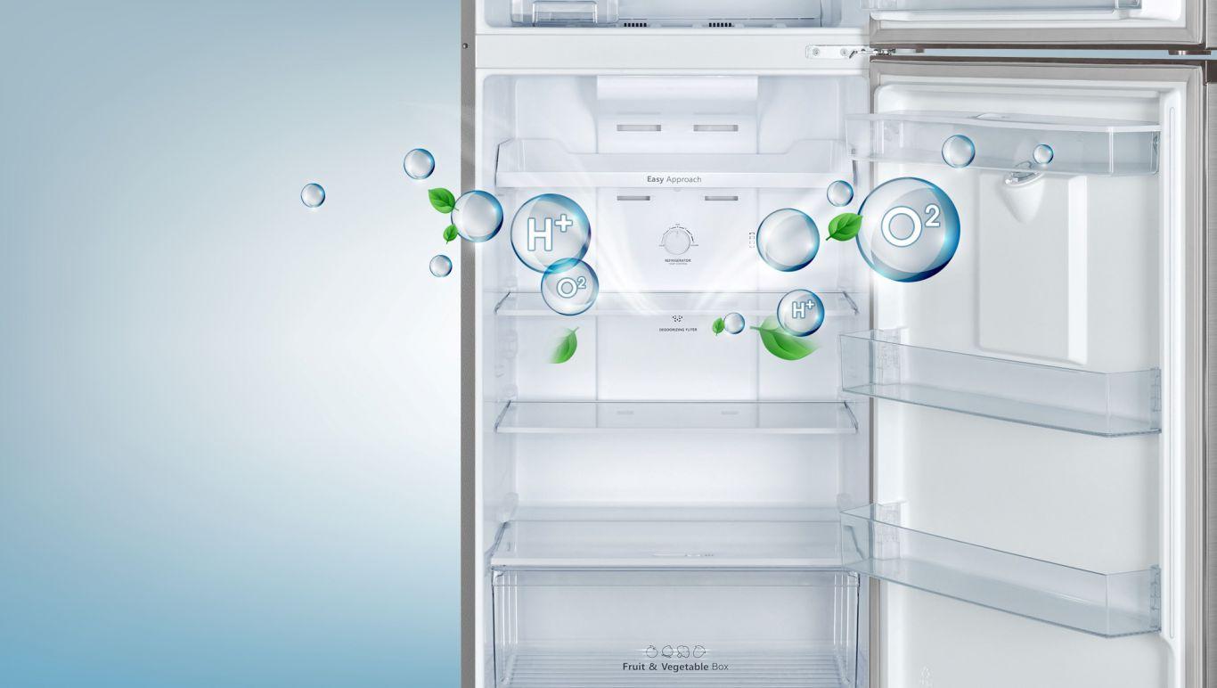 Khử mùi hiệu quả nhờ lưới lọc than hoạt tính trên Tủ lạnh Casper RT-230PB