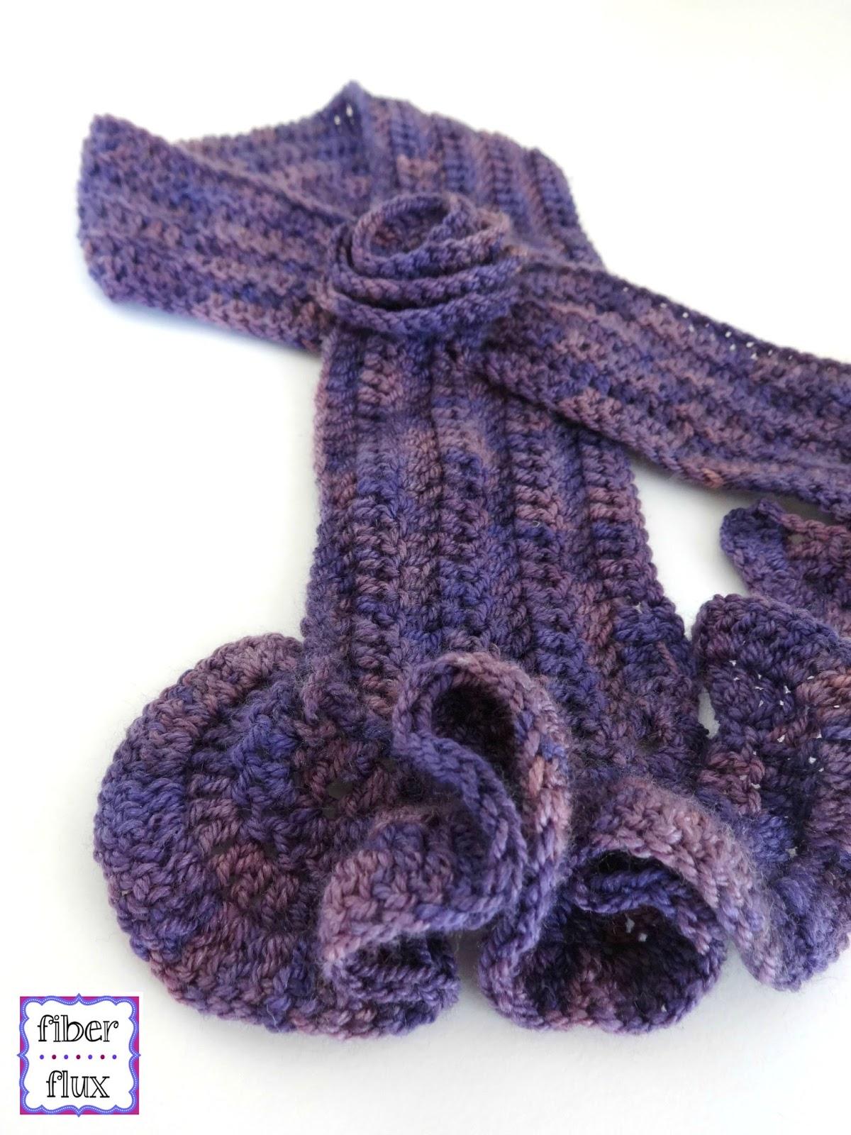 Fiber Flux: Free Crochet Pattern...Vintage Blossom Keyhole Scarf!