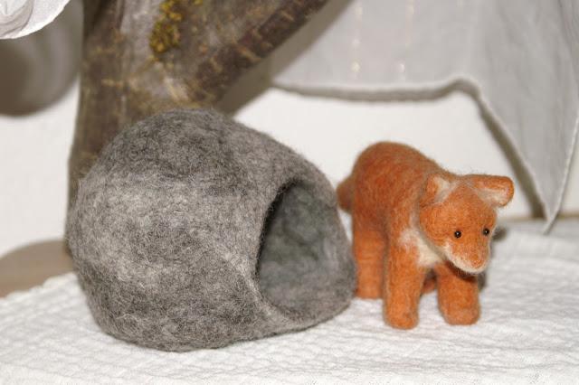 Stein höhle filzen