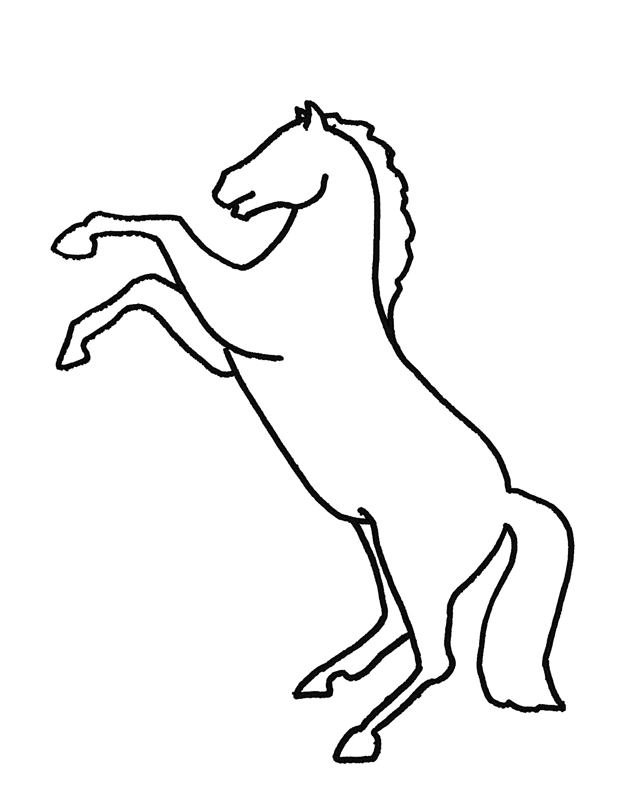rearing horse outline