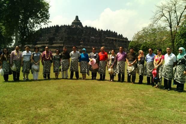 Kunjungi Yogya, KSAU se-ASEAN Kagumi Candi Borobudur