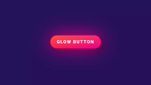 Pure CSS Glowing Hover Effect on Button