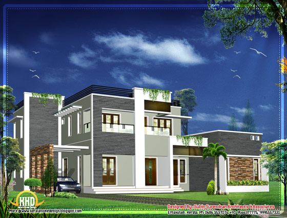 Modern Kerala home design - 2012 Sq. Ft.