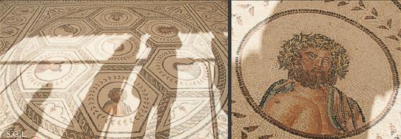 Mosaico de la casa del Planetario, Itálica, la ciudad romana de Sevilla