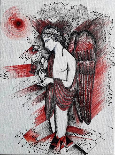 Sembra un angelo caduto dal cielo 2019 by Renata Solimini