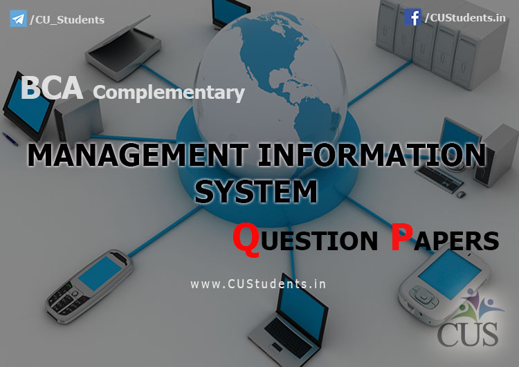 BcA Management Information System Previous Question Papers