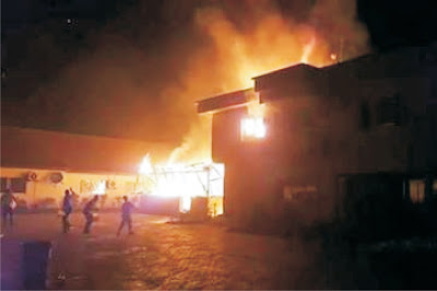 Fire guts another building in Uyo