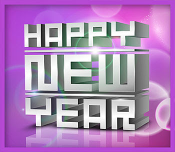happy new year images 3d