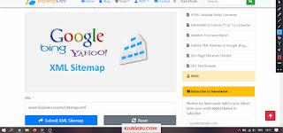 tools submit sitemap google, bing, baidu, yandex dengan sekali klik saja.
