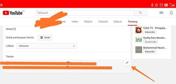 cara membuat link WA di youtube
