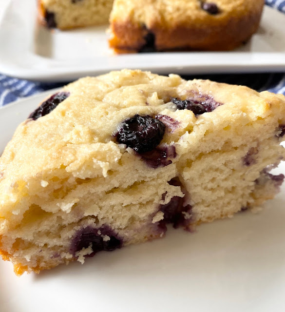 blueberry yogurt breakfast cake #sweetsavoryeats