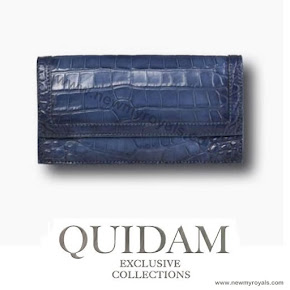 Crown Princess Mary style Quidam Alligator Clutch