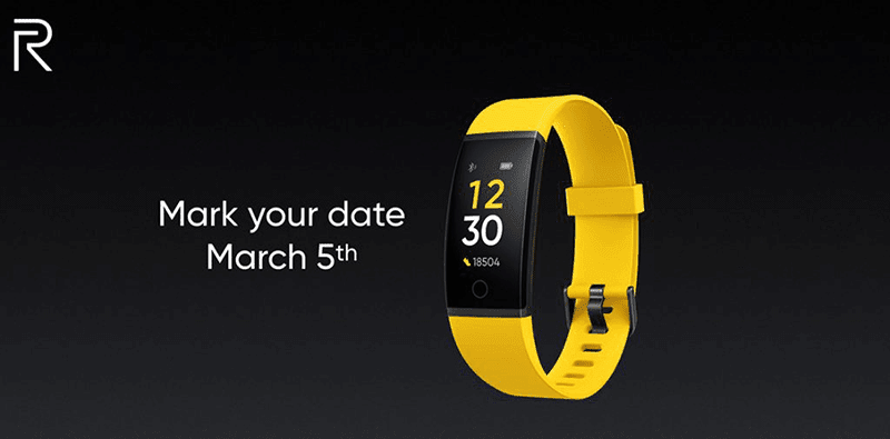 Realme fitness band to be announced on March 5 in India