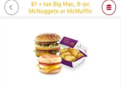 $1 BIG MAC CANADA