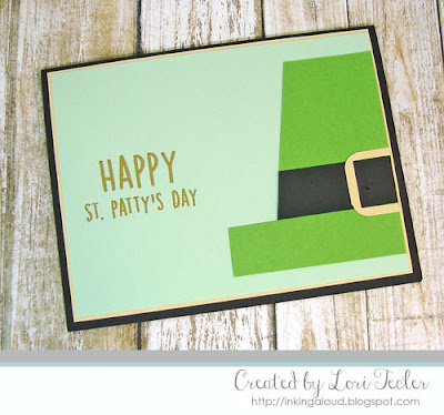 Happy St. Patty's Day card-designed by Lori Tecler/Inking Aloud-stamps from Reverse Confetti