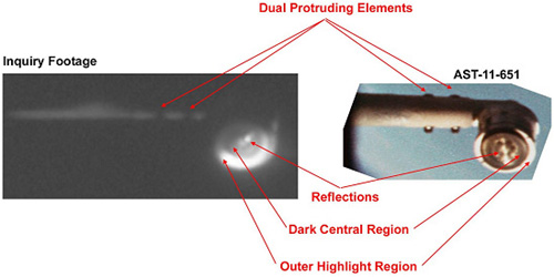 Intelligently made extension arm mistaken for a UFO by Astronauts.