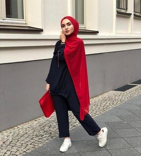 Tutorial hijab pashmina masa kini