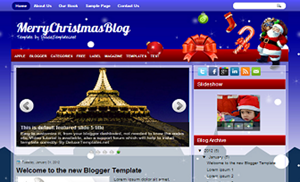 MerryChristmasBlog_Blogger_Template