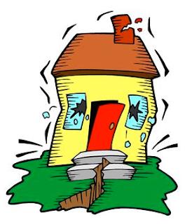 earthquake-shaken house
