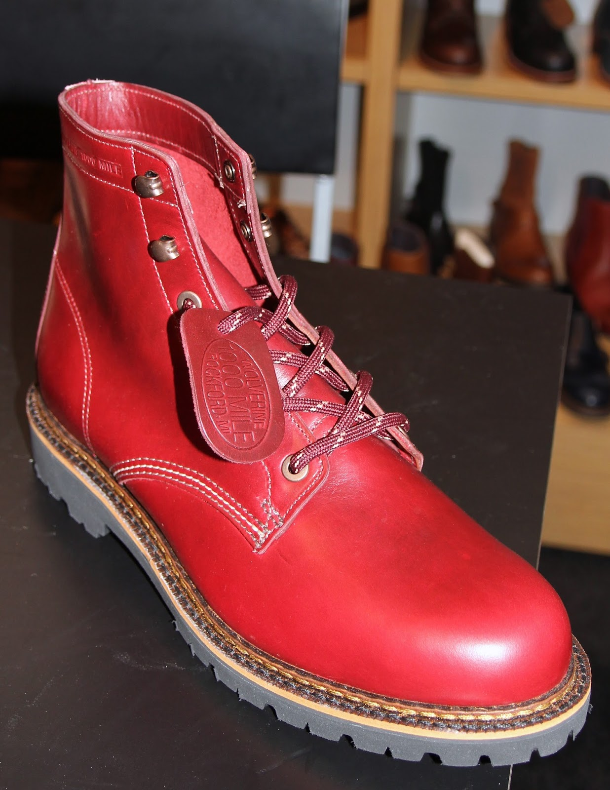 620c8b8851 RED RED RED-Wolverine 1000 Mile Boot for men made in the USA -Horween®  leather