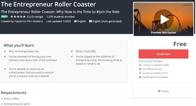[100% Free] The Entrepreneur Roller Coaster