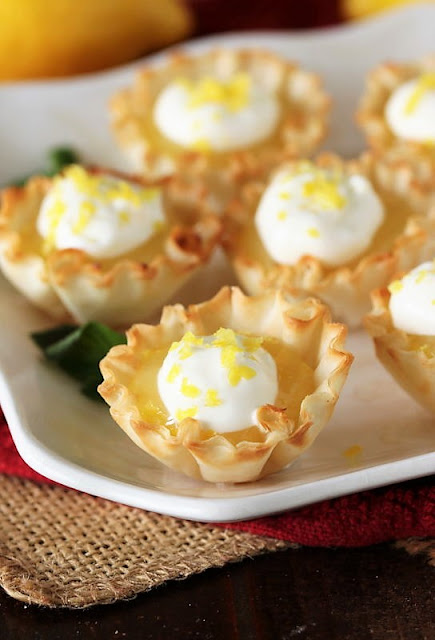 Lemon Curd Tartlets in Phyllo Dough Shells Image