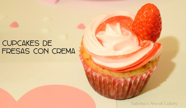 Cupcakes de fresas con crema