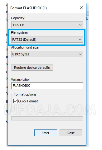 Format Flashdisk di Laptop