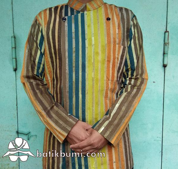 Surjan Batik Cap motif Lurik Salur