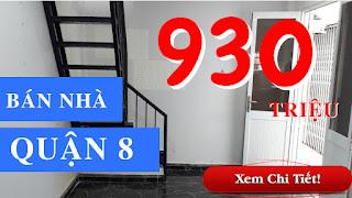 Bán nhà hẻm đường Phạm Thế Hiển phường 5 Quận 8 dưới 1 tỷ