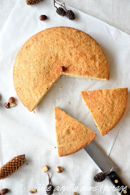 Le gâteau creusois (gâteau moelleux aux noisettes)