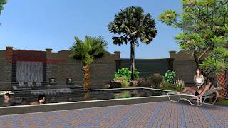 Taman dan kolam renang - www.jasataman.co.id