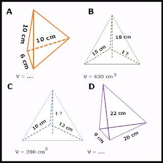 Soal Bangun Ruang Soal Limas Segitiga dan Limas Segi Empat yang terdiri dari soal volume L Soal Limas Segitiga dan Limas Segi Empat plus Kunci Jawaban