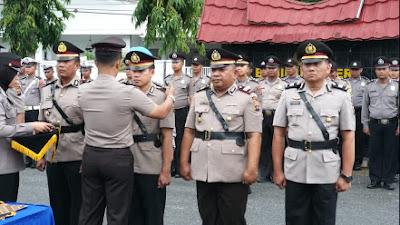 Kapolres Solok Kota AKBP Ferry Suwandi, S.I.K Pimpin Serah Terima Jabatan