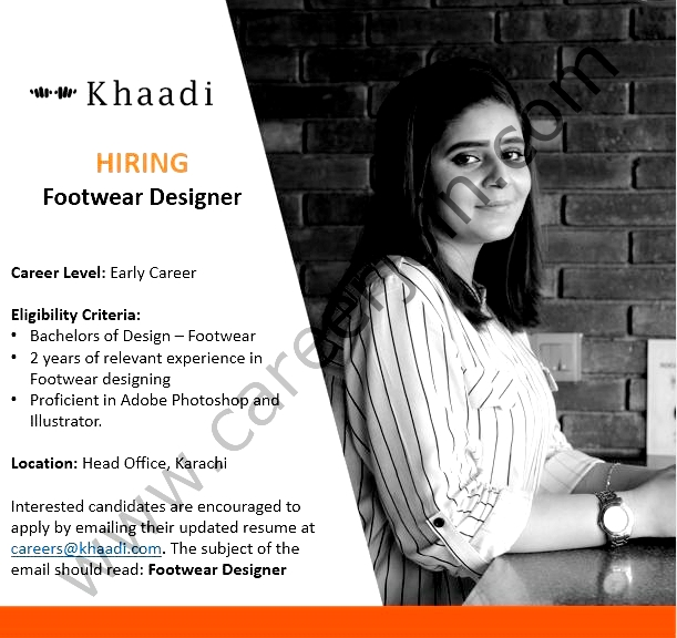Khaadi SMC Private Limited New  Jobs For Footwear Designer