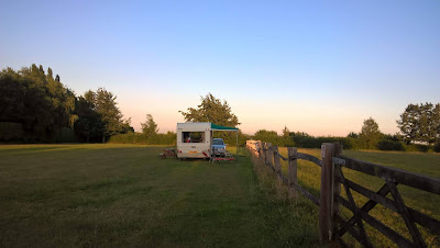 Out in our 1970s caravan