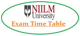 NIILM University Exam Date Sheet 2021