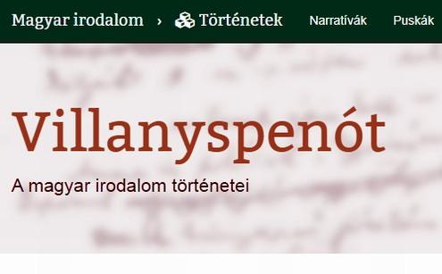 Villanyspenót - online irodalomtörténet