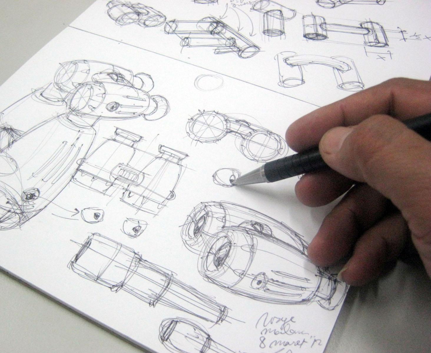The outline of method Teknik Sketsa Produk