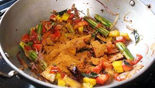 sambar masala adding