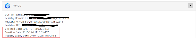 lihat umur blog dari whois
